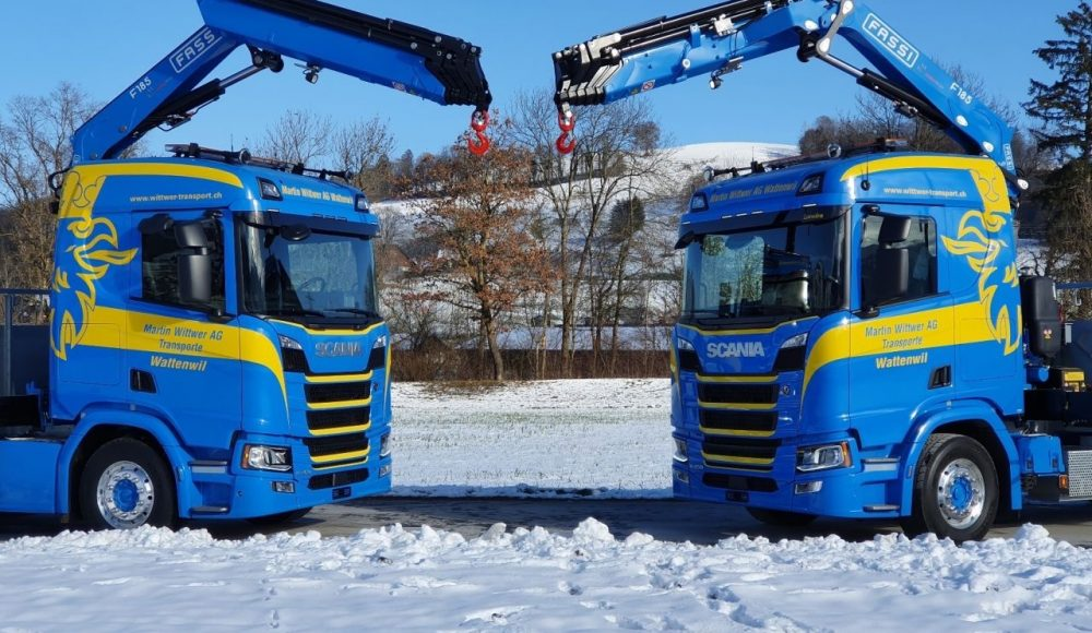 Two-Fassi-F185A-2-25-xe-dynamic-cranes-installed-onto-3-axle-Scania-R450-vehicles-CH-1